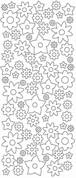 Stickers (autocollants) Peel-off sticky shapes motif fleurs.