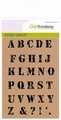 Tampons clear stamps ALPHABET VINTAGE