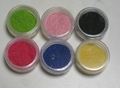 Lot de 6 pots de flocage velours lot A